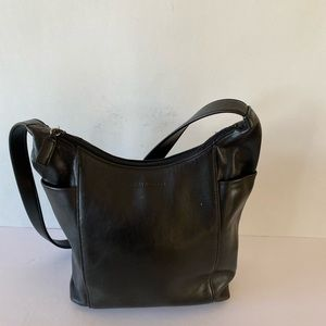 Enzo Angiolini Black Leather Shoulder Bag Purse